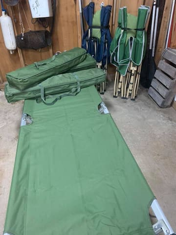 4 additional standard army cotss, adult size...