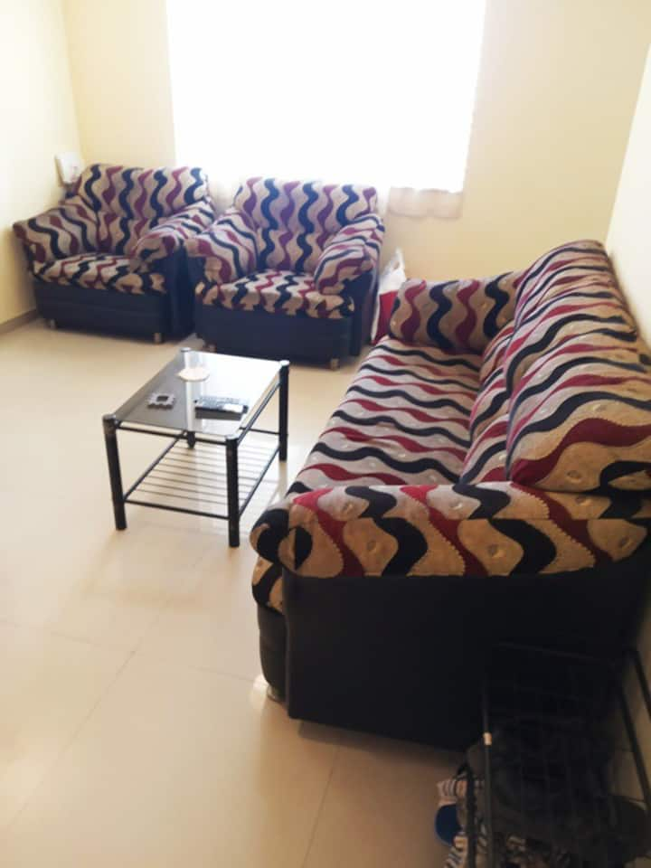 Work from Home in peaceful Furnished 2BHK Apt