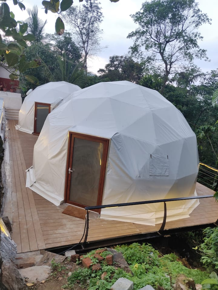 Birds Eye Estate Geodesic Glamping Domes