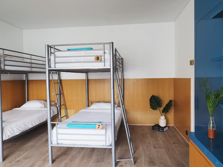 Bed in 8 Bed Male Dorm. at Impact House Belém