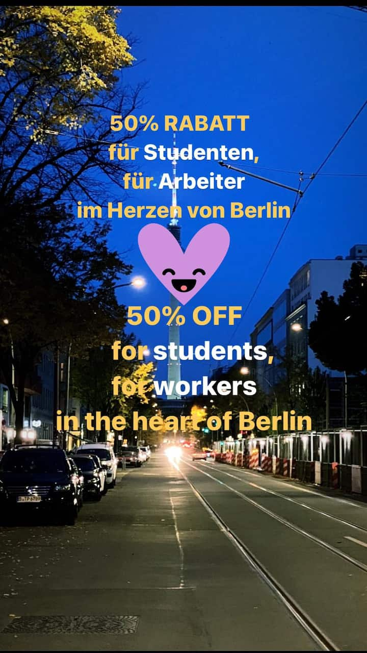 50% off for students and workers