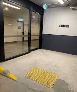 Basement Entry from Resident Carpark