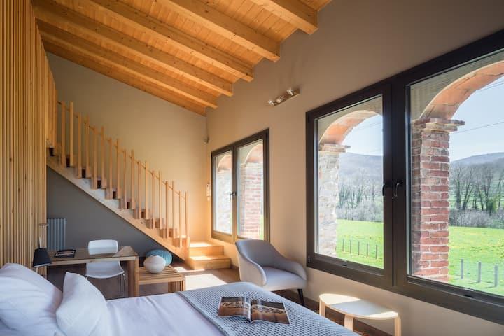 Habitación Dúplex Familiar en masía hotel rural
