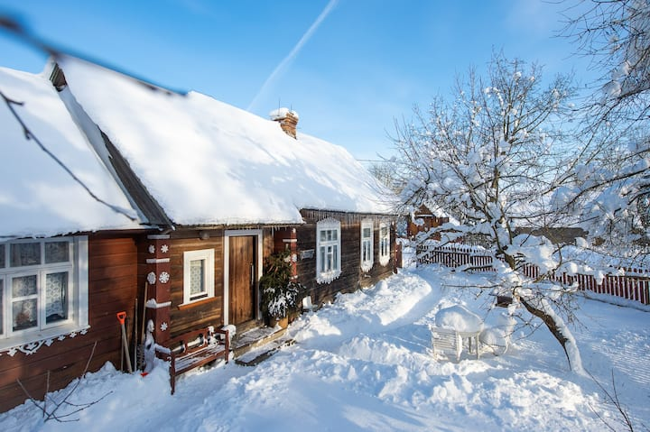 uroczy dom Przy Chlebowym Piecu Puszcza Knyszyńska