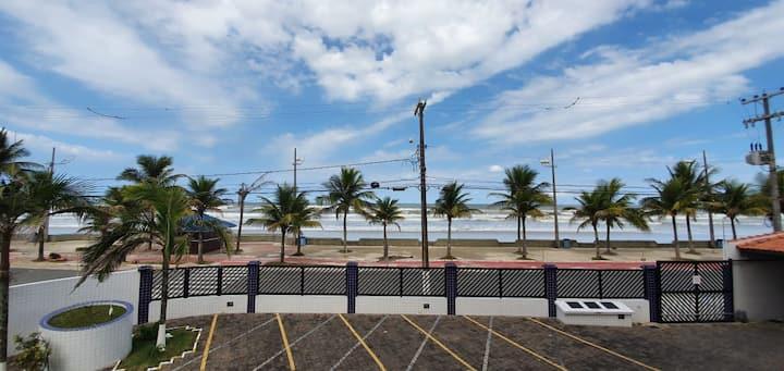 Aluguel temporada AP Mongaguá - em frente a praia