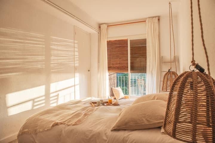 Acogedor apartamento con vistas al mar en Calella