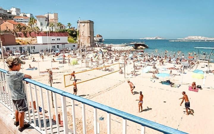 ☆ Beach apartment & Vieux-Port ☆