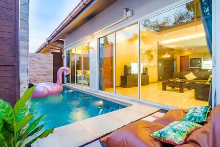 7min to BEACH! Best Price Pool Villa heart pattaya