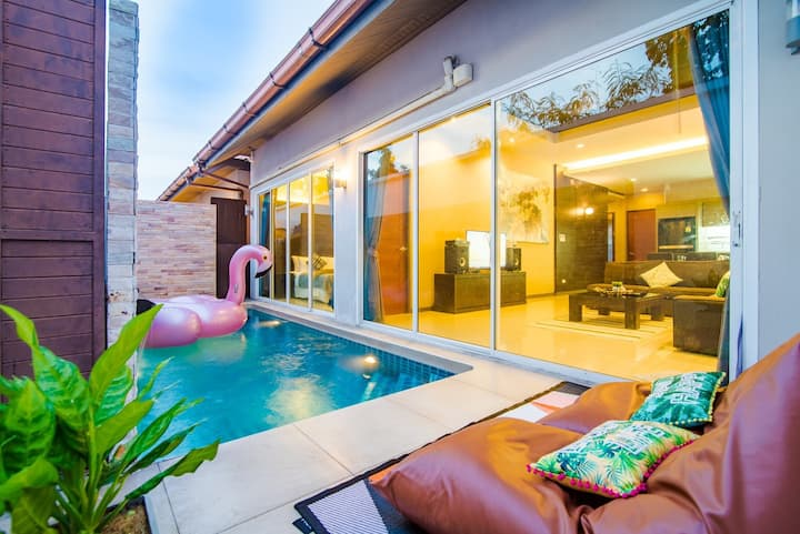 7min to BEACH! Best Price Pool Villa heart pattaya