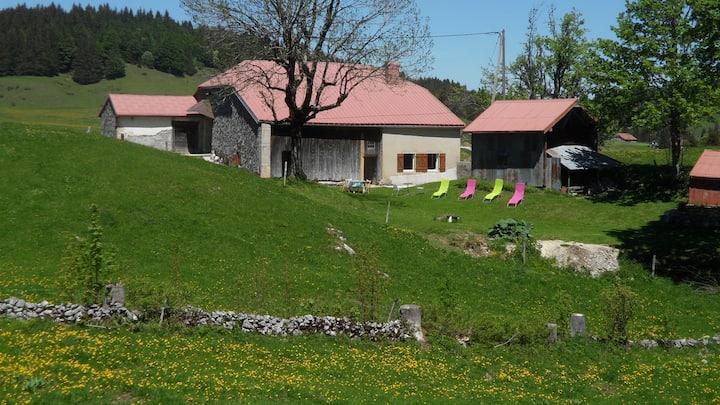 Gîte sans voisin sur 30 hectares à 1250 m. d'alt.