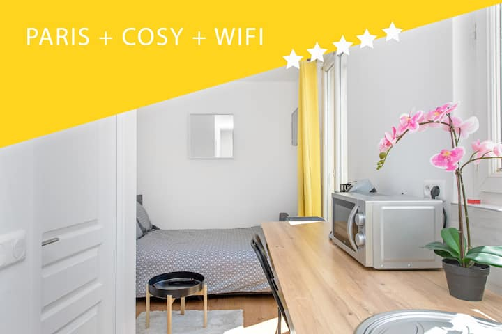 Cosy Studio 5 minutes  Porte de Paris 2 people