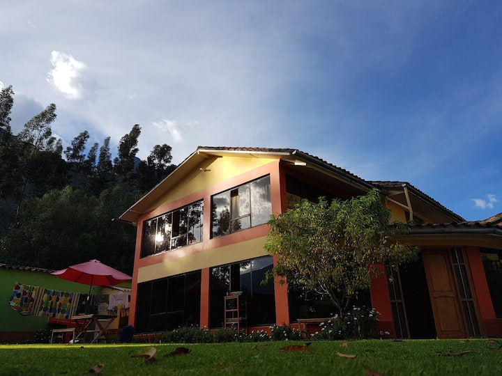 Habitacion para 4 con wi-fi y jardin