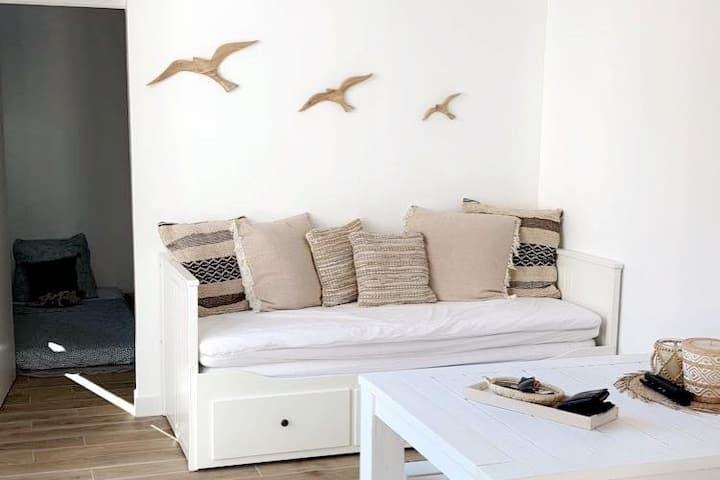 Villa de 45 m2 avec terrasse de 35 m2, 2 chambres