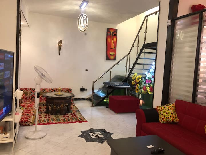 ✔Renovated unique studio Clean & Quiet in Zamalek♥