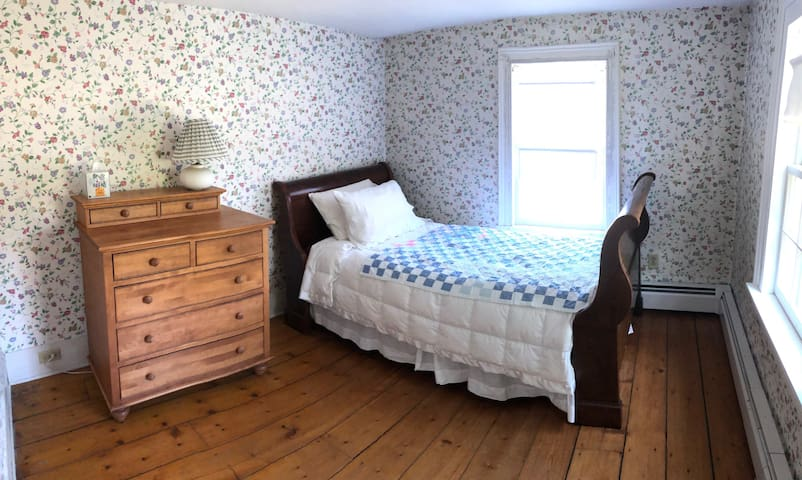 Bedroom #5 with Sleighbed from President Van Buren's home,  just 20 miles south of here in Kinderhook, NY.   Twin Bed