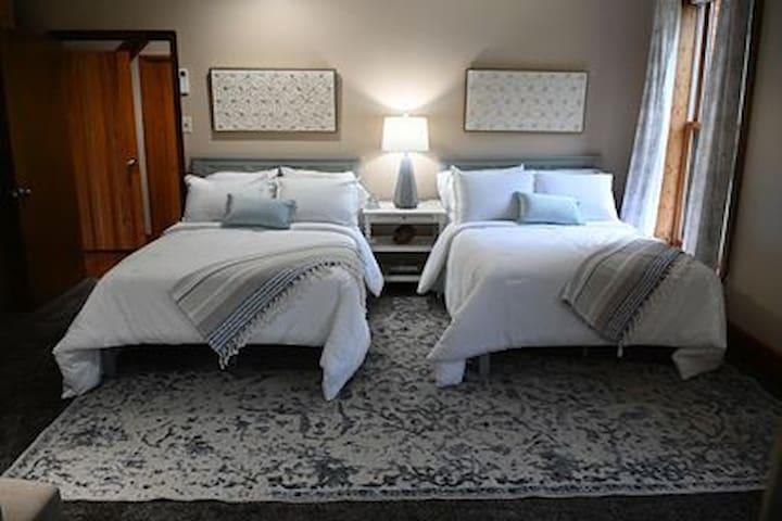 Bedroom 2, upstairs  double beds