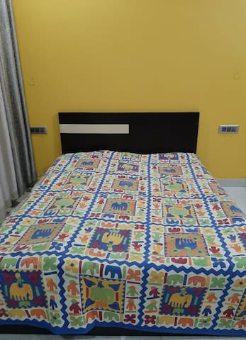 Queen size storage bed with facility of extra bedding for kids or adults.