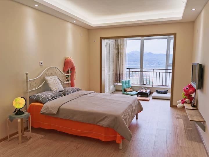 【爱乐之城】官厅水库 湖景公寓 双床 可住3人 公共艺术小镇