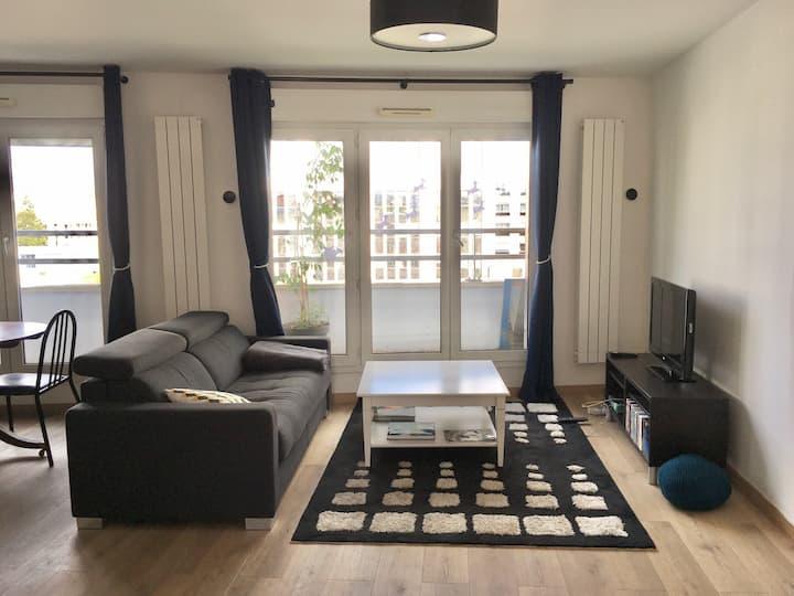 Appartement 50m² 2 pièces proche paris