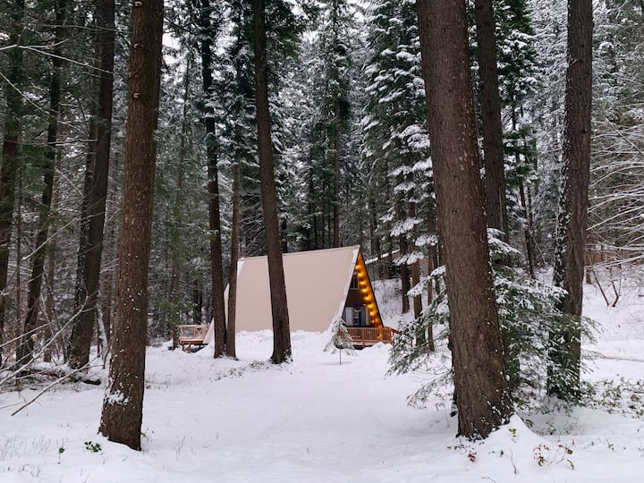 Moonwood Cabin - cozy a-frame in the mountains