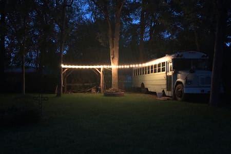 Tyler Tiny House on Wheels - Glamping School Bus