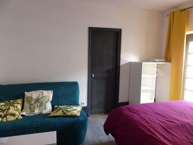 PETIT T1 chambre+cuisine séparée, centre ville