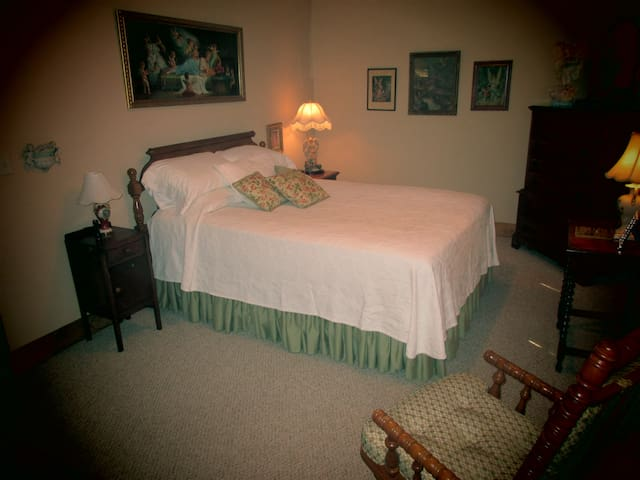 Bedroom of Gran's House now ready and waiting for guests.