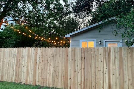 Automatic String Lights turn on at dusk to lead the way or set the ambiance.