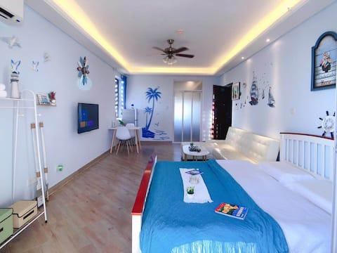 高龙湾1号海景大床房/免费做饭游泳/配套洗衣机