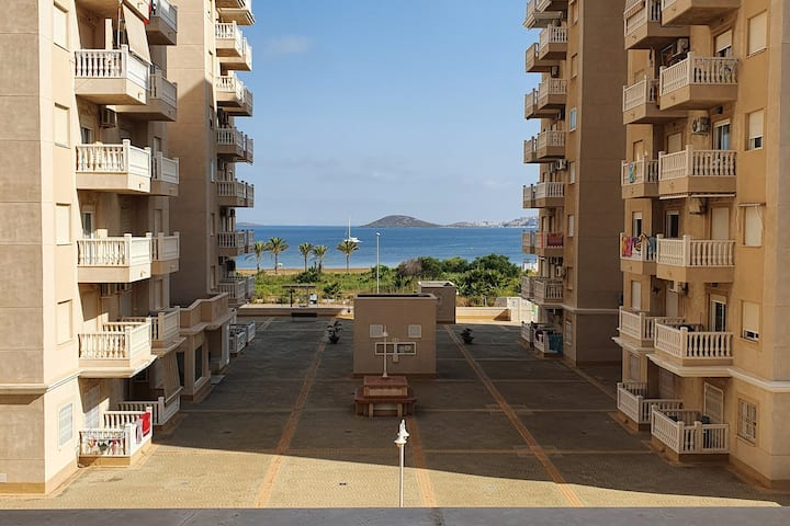 Flat with terrace+views at 230m from Paraíso beach