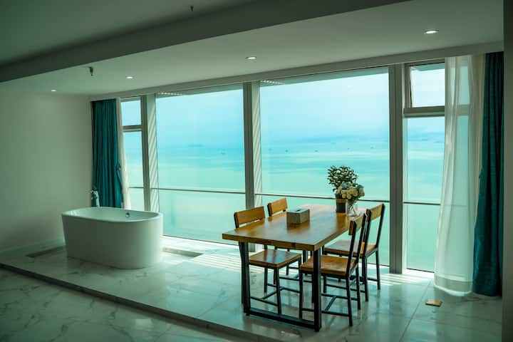 Cozy big Apt. with wide Sea-View, 5min to Shapowei