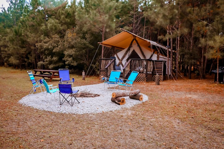 Glamping at Laurel Oaks Estate in Conway, S.C.