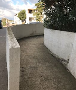 Easy access ramp leads directly to apartment for guests with mobility needs.