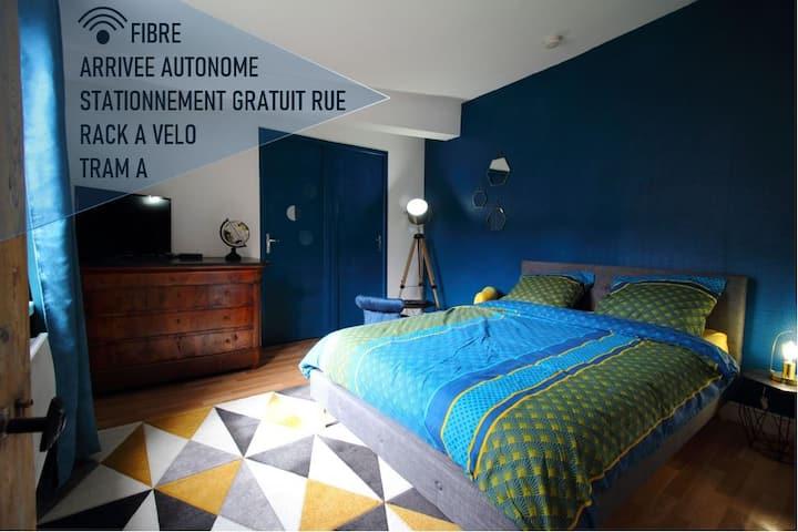 T1 de charme, calme, Fibre,  proche bords de Loire