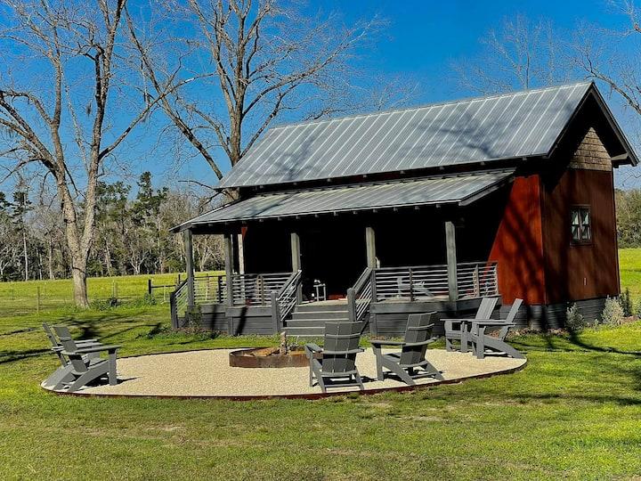 Modern Farm cabin on a 215 acre old tobacco farm.