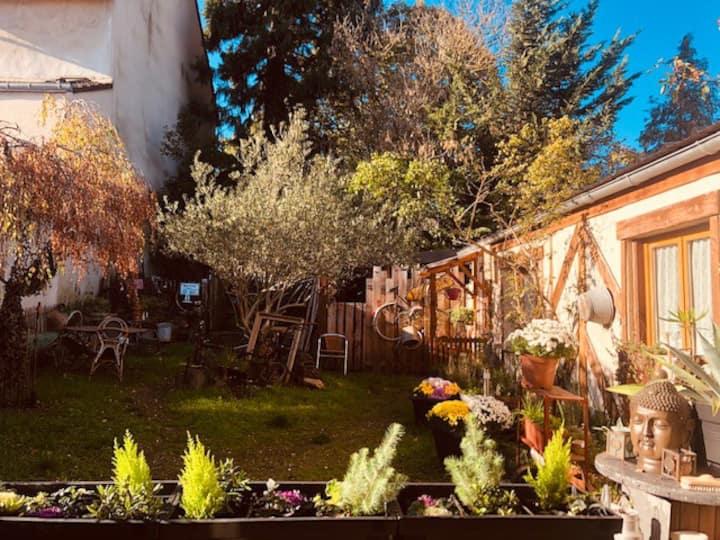 Charmant studio un jardin en centre ville