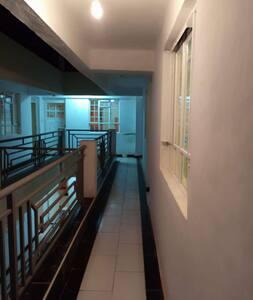 entrance corridor and door