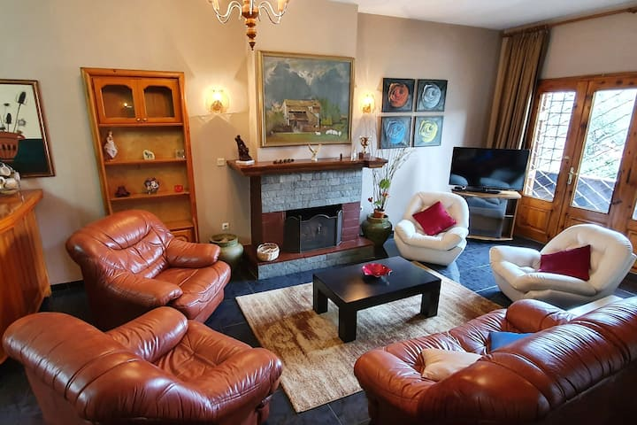Superb 2 BR Apartment with an Indoor Fireplace!