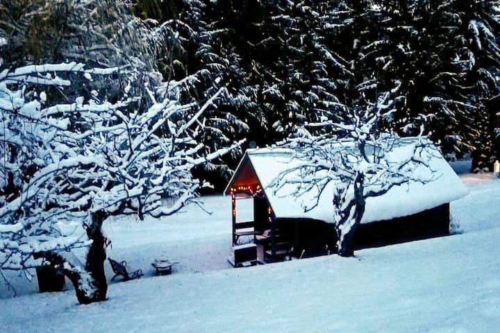 Log Cabin and Sauna at White Lake