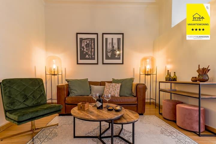 luxueus appartement in authentieke kust woning