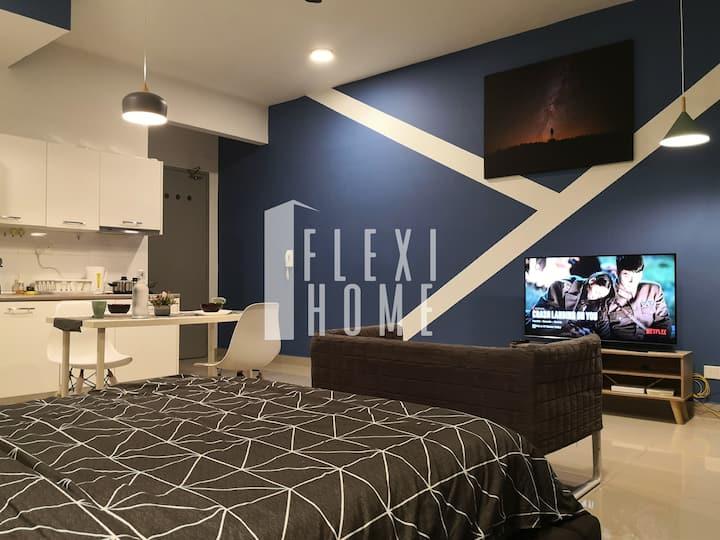 (NETFLIX) Cozy & Quiet Studio, Cyberjaya-Flexihome