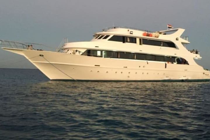 Cruise ship for international trips, from Hurghada