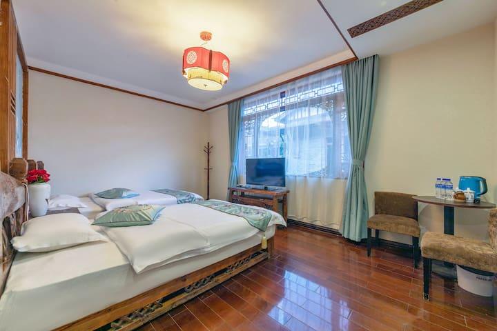 今日已消毒,丽江古城纳西特色风情庭院尊享双人床房