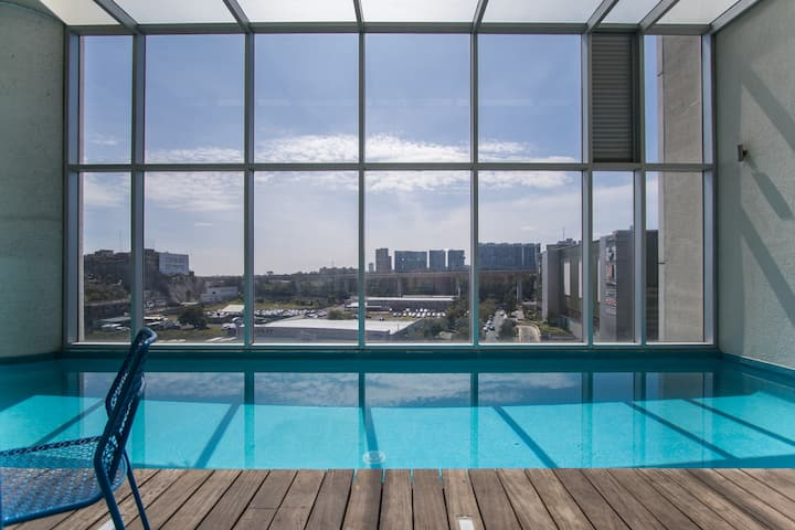 Santa Fe Luxury Indoor Pool W/Amazing City View