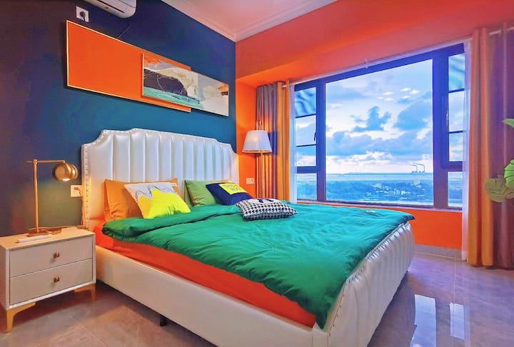 『奇·橙』民宿。[梦幻森林]全海景房。适合全家出游。阳光海岸。