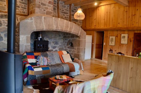 Old renovated farmhouse in the Ardéche mountains