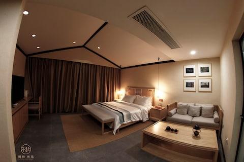 【樾和 林泉】黄陂木兰风景区轻奢民宿、大床房