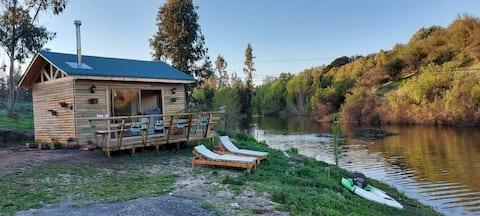 Hermosa cabaña a orilla de laguna a 1 hora de Stgo