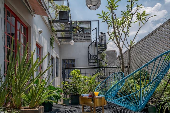 Apartamento con terraza compartida en Roma Norte !
