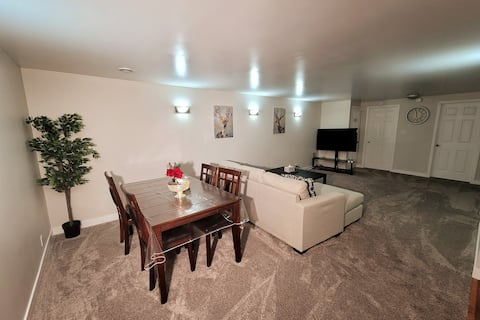 2 BRs spacious basement suite. JUST LIKE HOME!